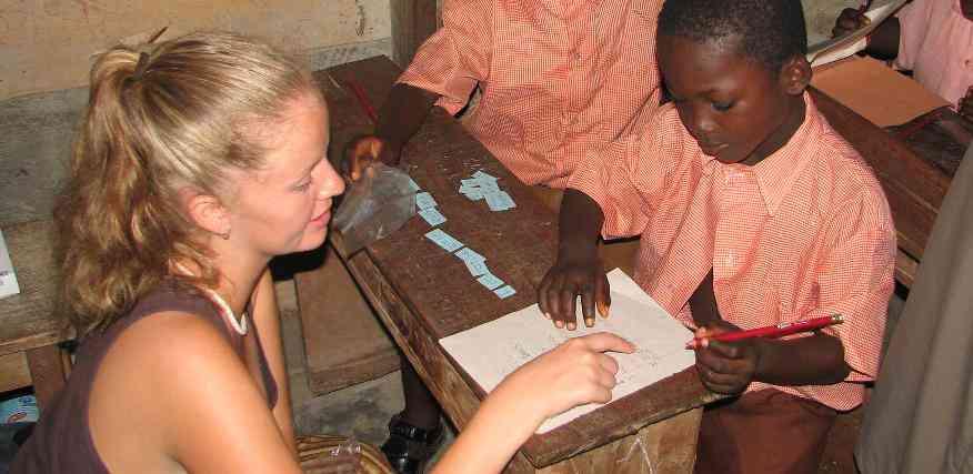 A Volunteer Teaching English in Ghana