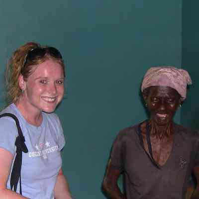 A Volunteer With an Elderly Lady